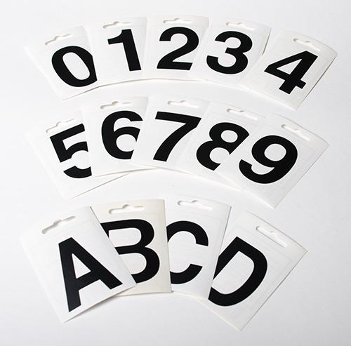 Moderne Allux tal & bogstaver 6 cm - Køb postkasser og postkasseanlæg hos GT-83